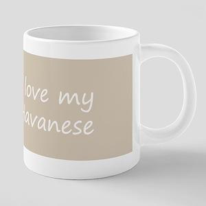 Havanese (Gold Sable) 20 oz Ceramic Mega Mug