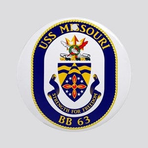 Uss Missouri Bb-63 Ornament (round)