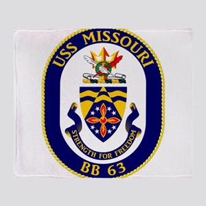 USS Missouri BB-63 Throw Blanket