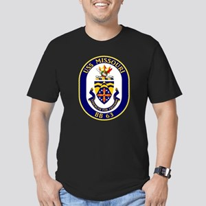 Personalized USS Misso Men's Fitted T-Shirt (dark)