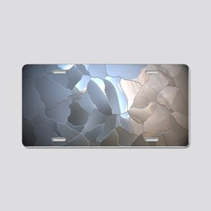 Cracked Pearl Aluminum License Plate