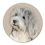 Havanese (Gold Sable) Round Car Magnet