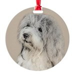 Havanese (Gold Sable) Round Ornament