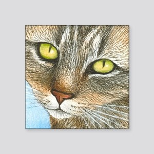 "cat 304 Square Sticker 3"" x 3"""
