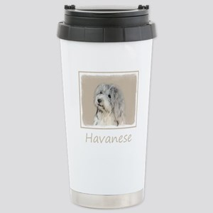 Havanese (Gold Sa 16 oz Stainless Steel Travel Mug