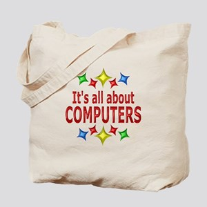 Shiny About Computers Tote Bag