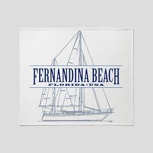 Fernandina Beach- Throw Blanket