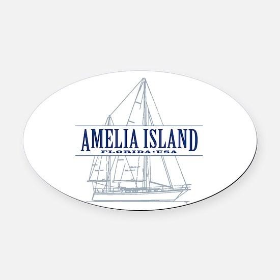 Amelia Island - Oval Car Magnet