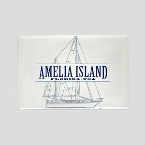 Amelia Island - Rectangle Magnet