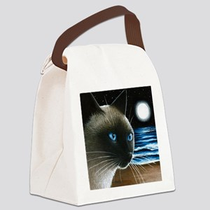 cat 396 siamese Canvas Lunch Bag