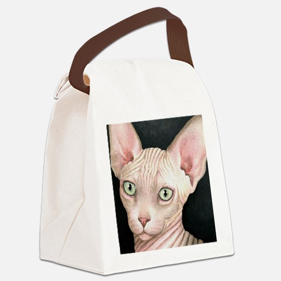 Cat 412 sphynx Canvas Lunch Bag