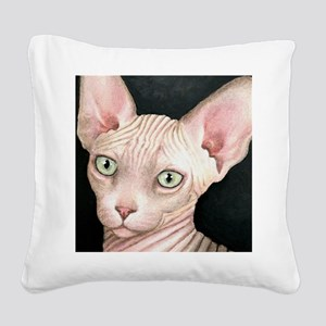 Cat 412 sphynx Square Canvas Pillow