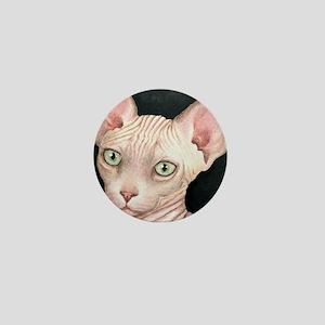 Cat 412 sphynx Mini Button