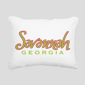 Savannah Script Rectangular Canvas Pillow