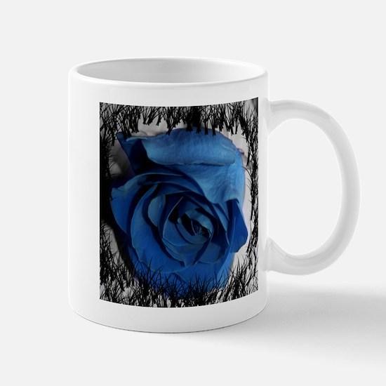 blue rose faded border pretty flower plant Mugs