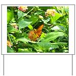 Orange Butterfly Yard Sign