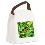 Orange Butterfly Canvas Lunch Bag