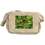 Orange Butterfly Messenger Bag