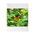 Orange Butterfly Twin Duvet