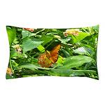 Orange Butterfly Pillow Case