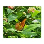 Orange Butterfly Throw Blanket