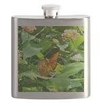 Orange Butterfly Flask