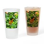 Orange Butterfly Drinking Glass
