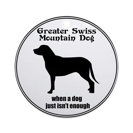 Swissy Enough Ornament (Round)