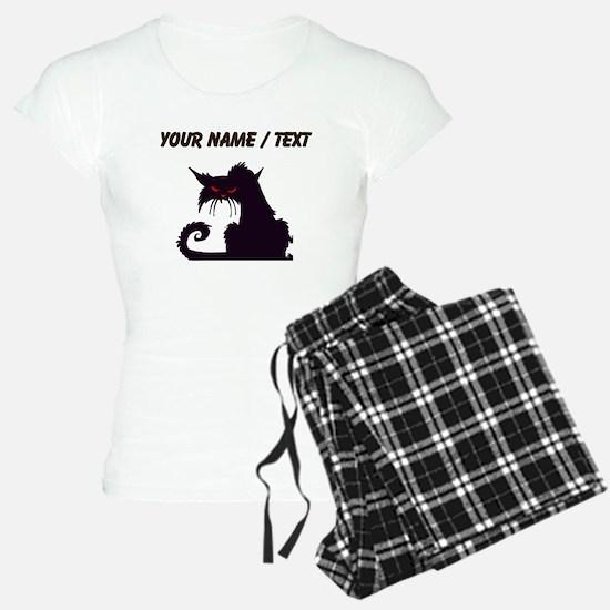 Custom Angry Black Cat Pajamas