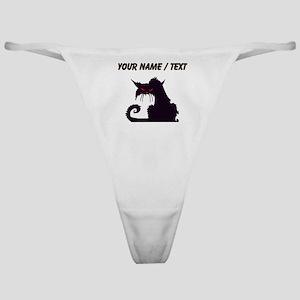 Custom Angry Black Cat Classic Thong