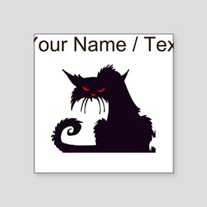 Custom Angry Black Cat Sticker