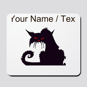 Custom Angry Black Cat Mousepad