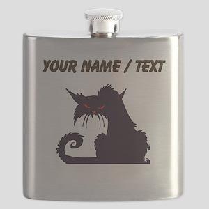 Custom Angry Black Cat Flask