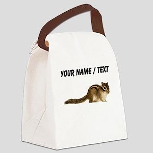 Custom Chipmunk Canvas Lunch Bag