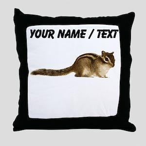 Custom Chipmunk Throw Pillow
