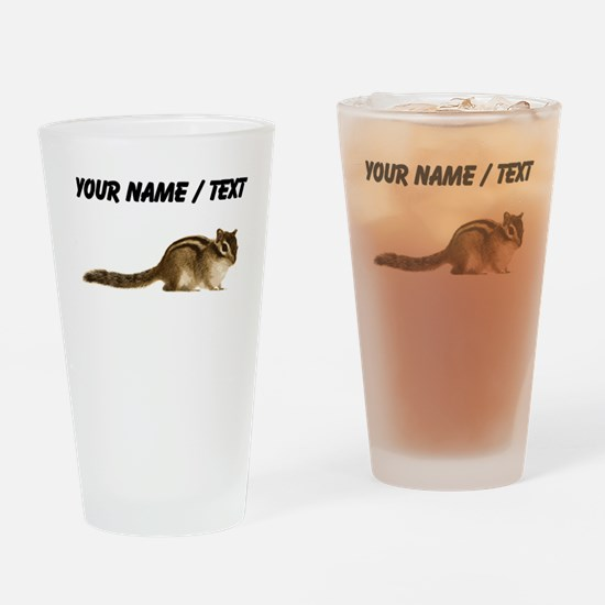 Custom Chipmunk Drinking Glass