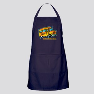 How I Roll School Bus Apron (dark)