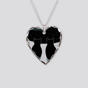 Cat 429 Necklace Heart Charm