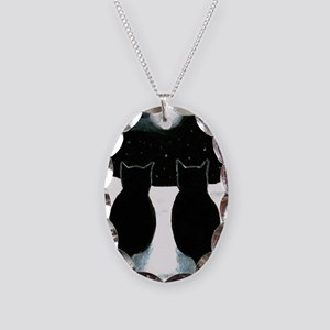 Cat 429 Necklace Oval Charm