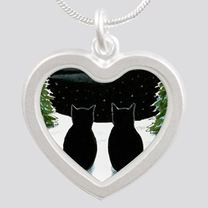 Cat 429 Silver Heart Necklace