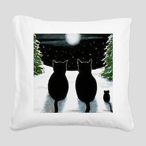 Cat 429 Square Canvas Pillow