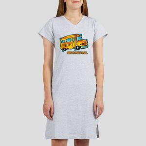 How I Roll School Bus Women's Nightshirt