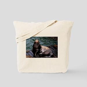 Happy Sea Lion Tote Bag
