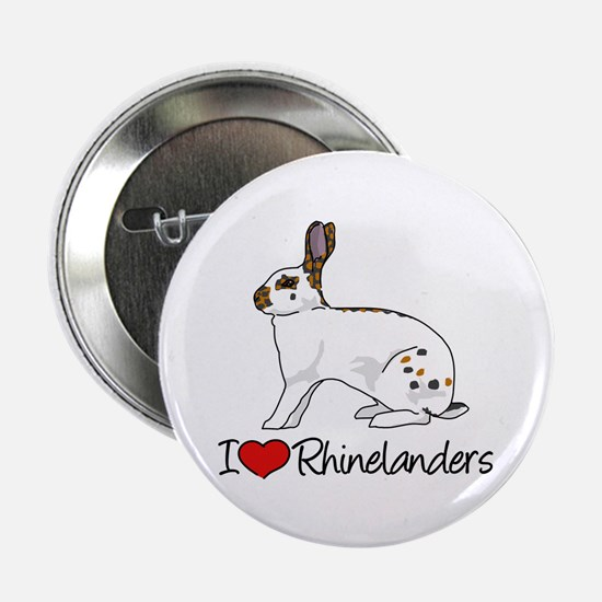 "I Heart Rhinelander Rabbits 2.25"" Button"