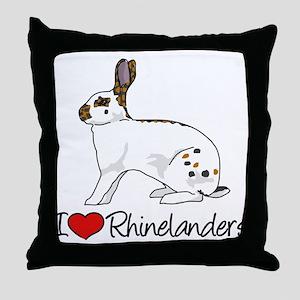 I Heart Rhinelander Rabbits Throw Pillow