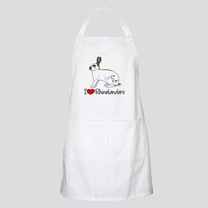 I Heart Rhinelander Rabbits Apron