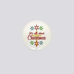 Christmas Cross Mini Button