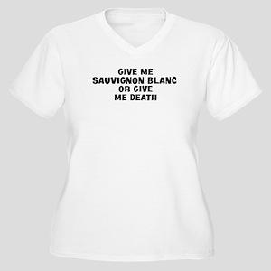 Give me Sauvignon Blanc Women's Plus Size V-Neck T