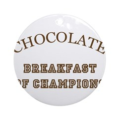 Breakfast Champions Chocolate Ornament (Round)