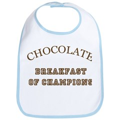 Breakfast Champions Chocolate Bib